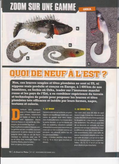 Gamme ORKA CANARD du Pêcheur de Carnassiers novembre 2012