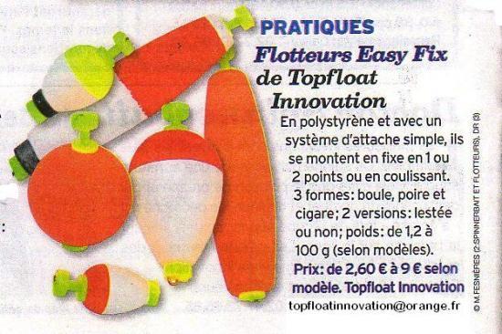 Flotteurs EASY FIX dans LE CHASSEUR FRANCAIS d'Aout 2012