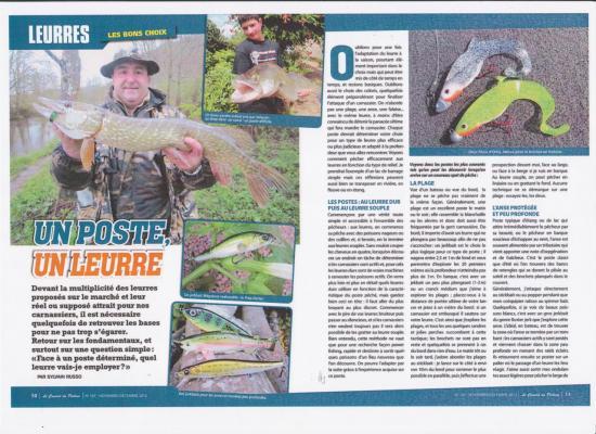 FENIX dans le Canard du Pêcheur de Carnassiers Novembre 2012
